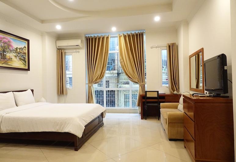 Apec Hotel, Hanojus, Liukso klasės apartamentai, virtuvėlė, vaizdas į miestą, Svečių kambarys