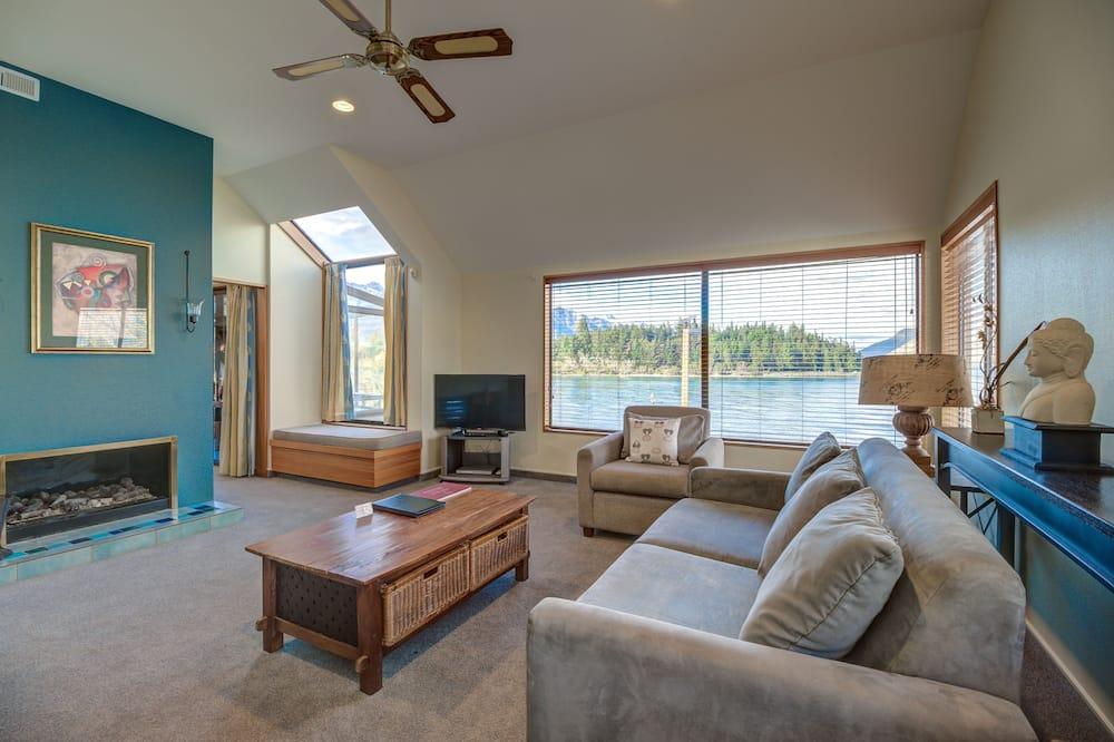 Ateliérový apartmán, 3 spálne, výhľad na jazero - Obývacie priestory