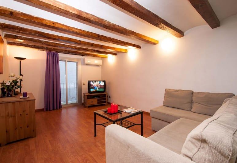 Rustic Poble Sec Apartment, Barcelona, Rustic Poble Sec Apartment, Vardagsrum