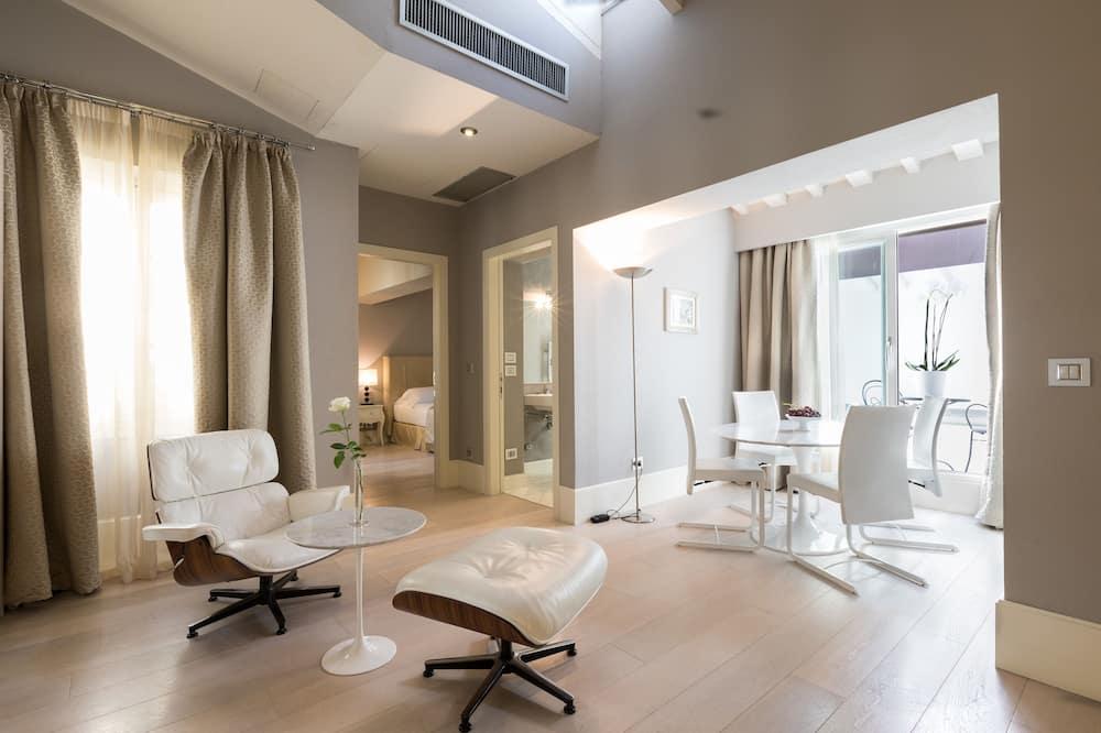 Liukso klasės apartamentai, 1 miegamasis - Vakarienės kambaryje