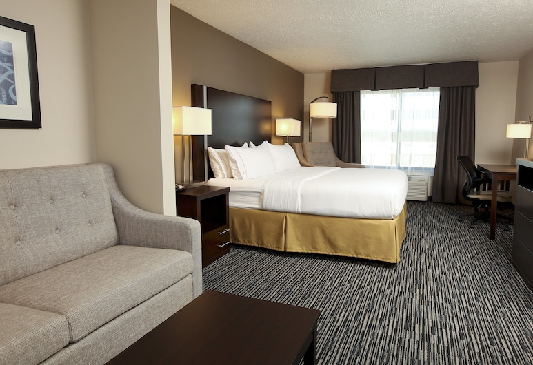 Holiday Inn Express & Suites Omaha South - Ralston Arena, Omaha, Suite, 1 letto king con divano letto, non fumatori (HEARING), Camera