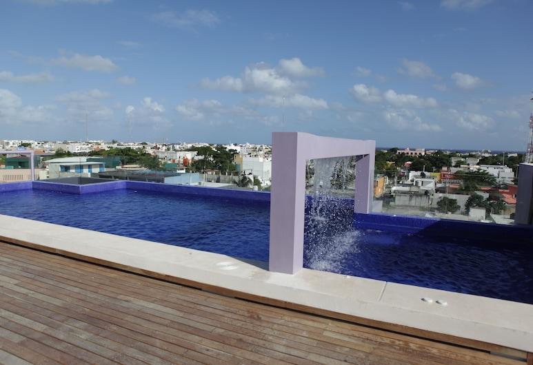 IRIS Studios & Apartments, Plaja del Karmenas, Lauko baseinas
