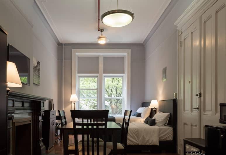 The Central Park North, New York, Obiteljska soba, zajednička kupaonica, Dnevni boravak