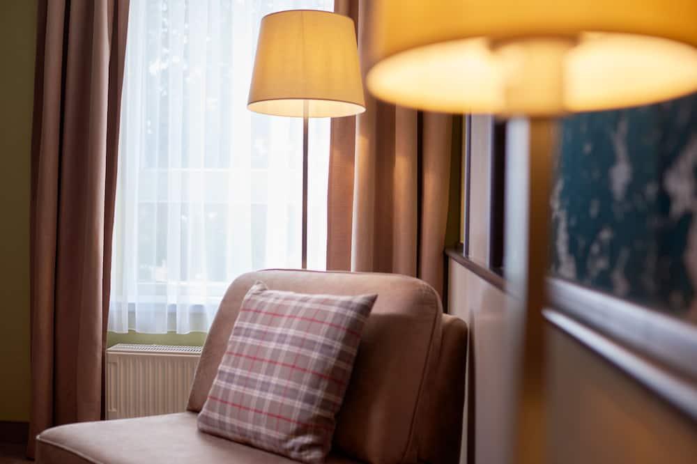 Comfort enkelrum - 1 queensize-säng - Vardagsrum