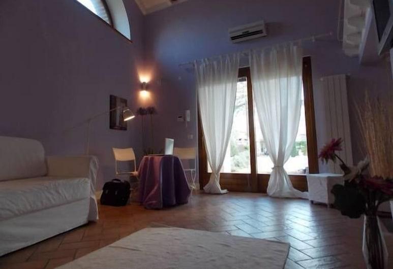 Bella di Casa, Bracciano, Apartament, 1 sypialnia, widok na jezioro, Salon