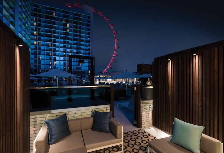 The LINQ Hotel + Experience, Las Vegas, Deluxe Poolside Cabana, 1 King Bed, Non Smoking, Terrace/Patio