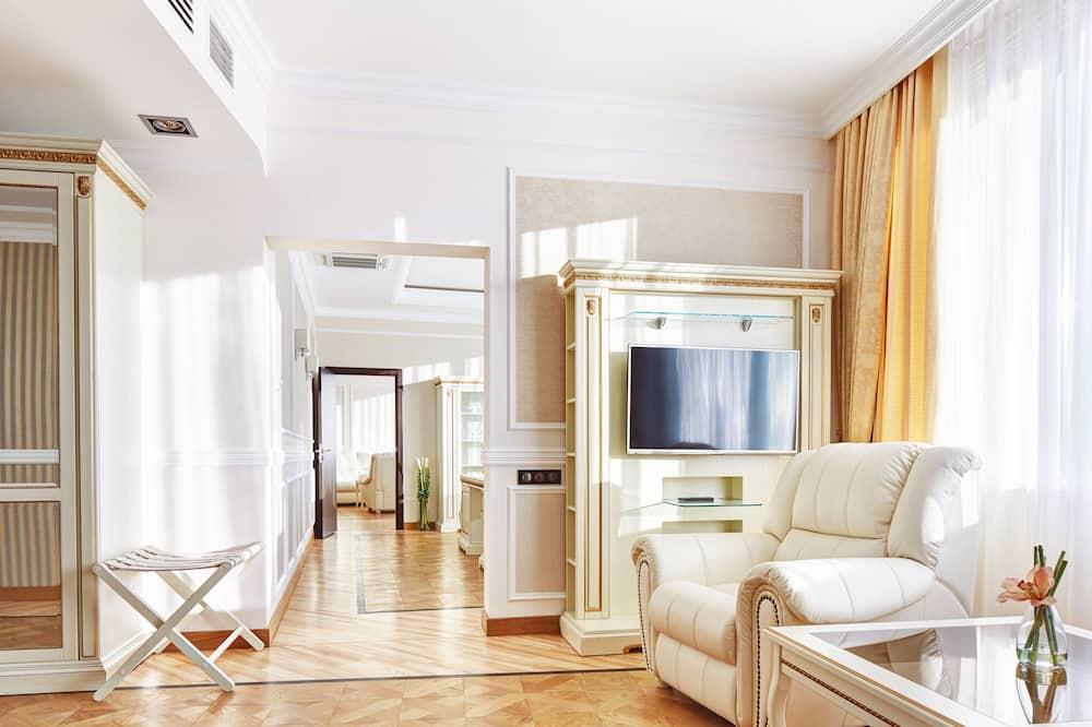 Апартаменты, 1 двуспальная кровать «Кинг-сайз» - Зона гостиной