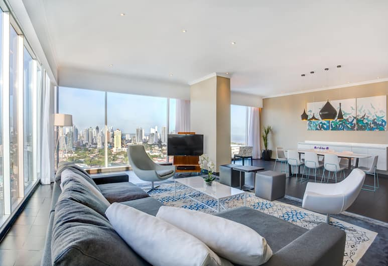 Sortis Hotel, Spa & Casino, Autograph Collection, Panama City, Apartment, 2 Bedrooms, City View (20% off at Essentia Spa), Living Area