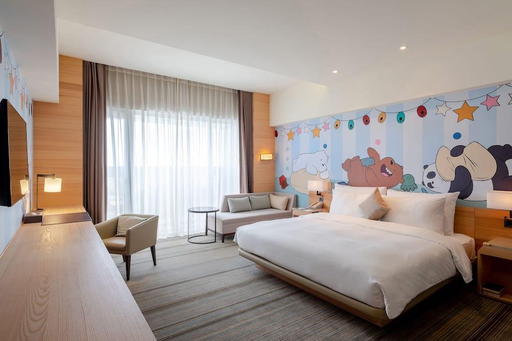 卡通頻道舒適客房 (一大床) - 兒童主題客房