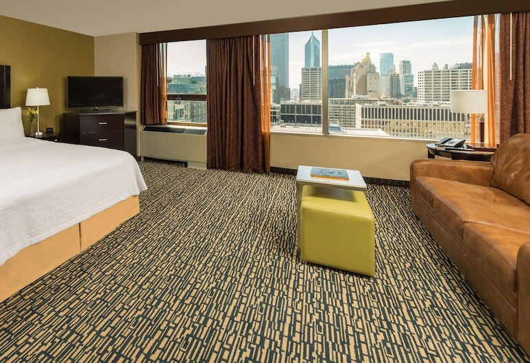 Homewood Suites by Hilton Chicago Downtown/Magnificent Mile, Chicago, Zimmer, 1 Queen-Bett, barrierefrei, Seeblick (Roll-In Shower), Zimmer