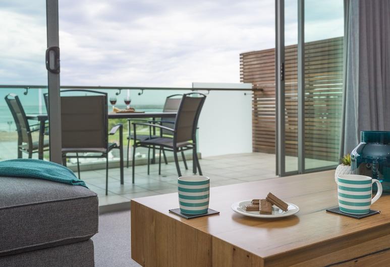 The Dolphin Apartments, Apollo Bay, Penthouse, Vista Oceano, Área de Estar