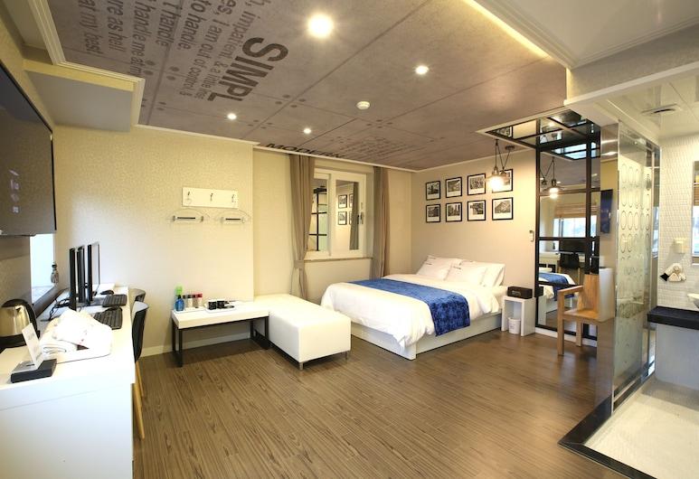Jeju Lux Hotel, Seogwipo, Prabangaus stiliaus dvivietis kambarys (2 viengulės lovos), Svečių kambarys