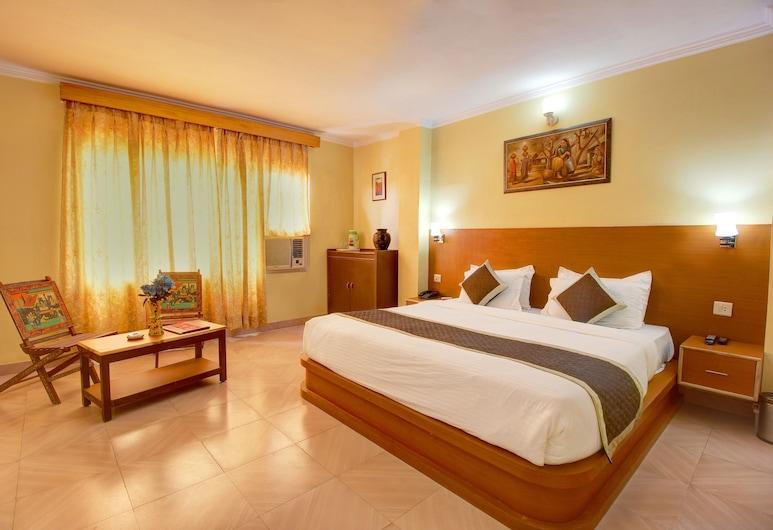 Hotel Jaisingh Palace, Džaipuras, prabangus kambarys, Svetainės zona