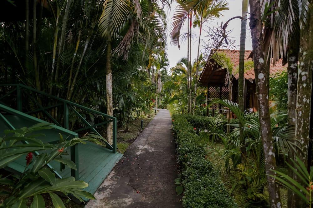 Poilsio namelis, 2 didelės dvigulės lovos, terasa - Viešbučio teritorija