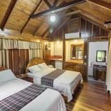 Poilsio namelis, 2 didelės dvigulės lovos, terasa - Kambarys