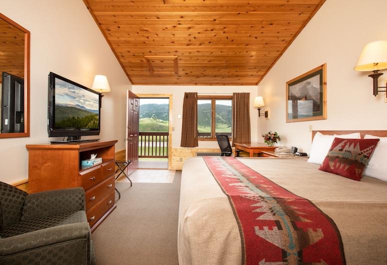 Flat Creek Inn, Jackson, Habitación, 1 cama de matrimonio grande, vistas a la montaña, Habitación