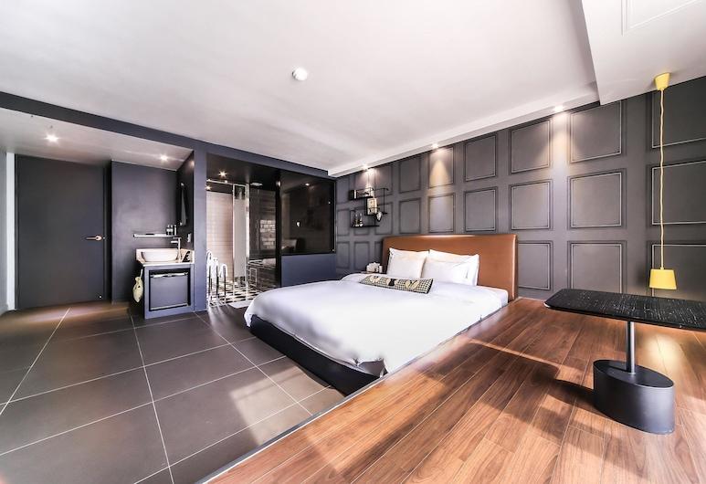 Hound Hotel Nampo, בוסאן, חדר דה-לוקס זוגי, חדר אורחים
