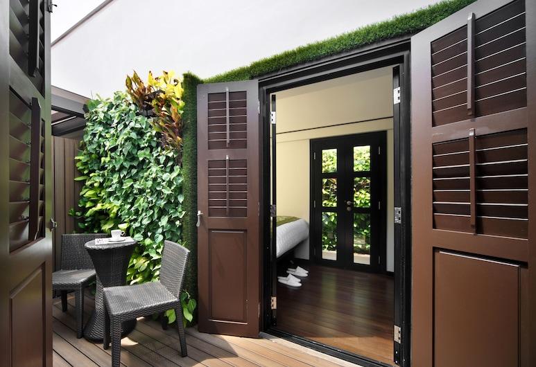 蘇丹路 33 號三葉草酒店 - SG Clean, Singapore, 尊貴客房 (Garden), 露台