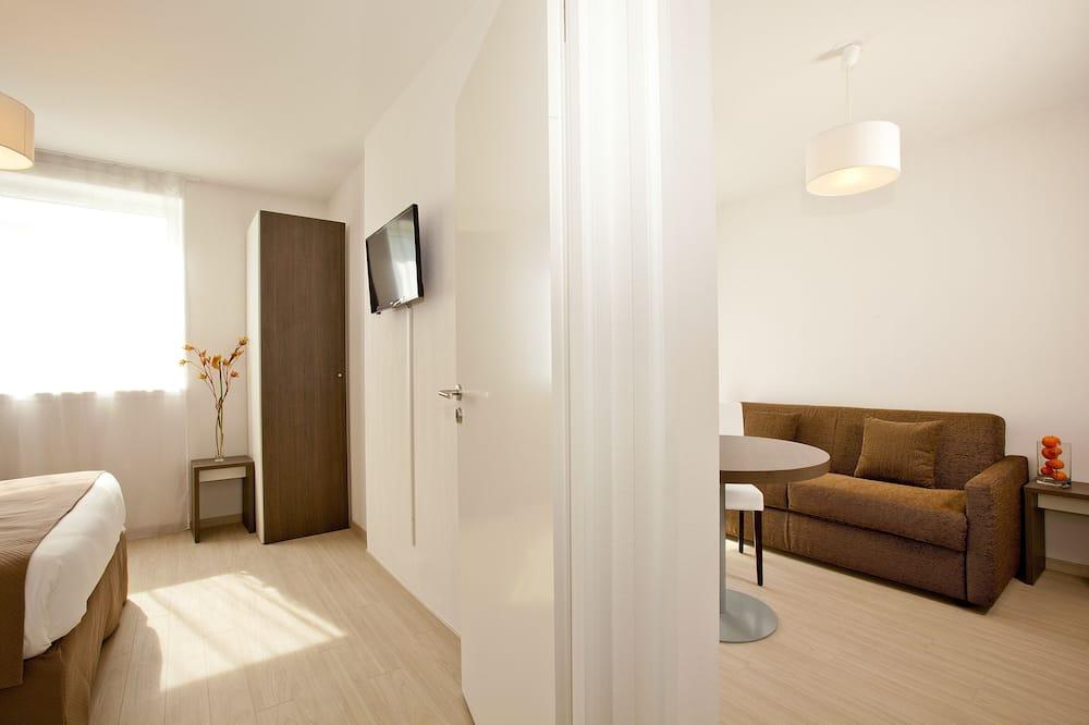 Pokój dla 4 osób o podstawowym wyposażeniu, 1 sypialnia - Powierzchnia mieszkalna