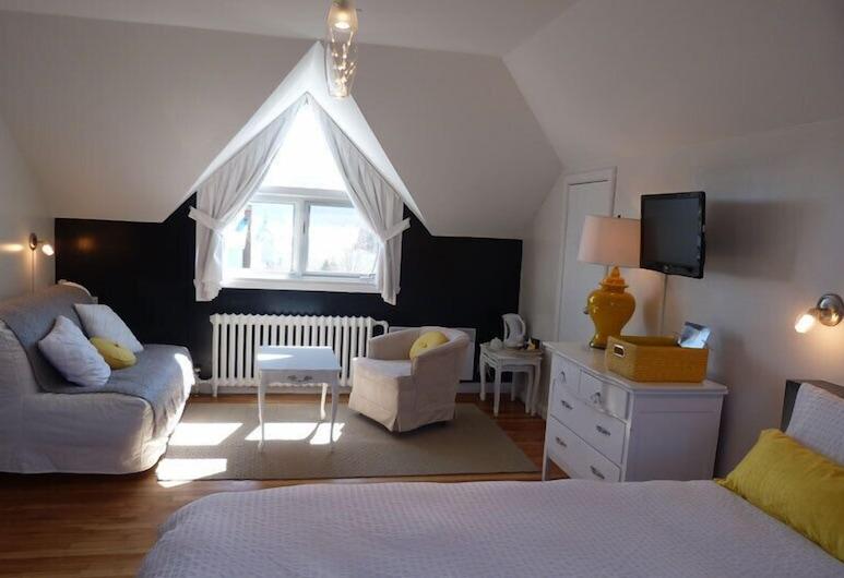 أوبرج لا مرفيليوس, تادوساك, غرفة كلاسيكية - سرير كبير مع أريكة سرير (Fjord), منطقة المعيشة