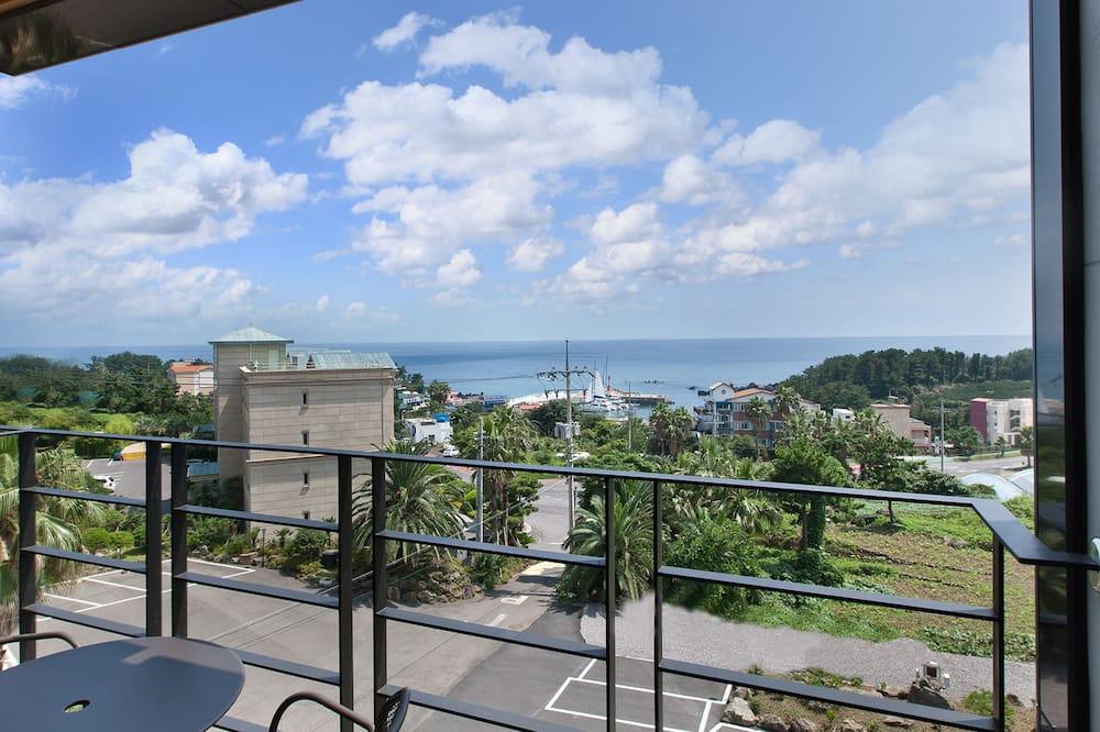 Doppia Deluxe, cucina, vista oceano - Balcone